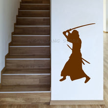 Load image into Gallery viewer, Samurai swinging a katana sticker