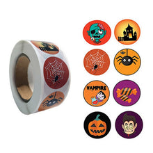 Load image into Gallery viewer, Halloween stickers 500 pcs (pumpkin, ghost, spider, bat, owl, witch, tree, mummy...)