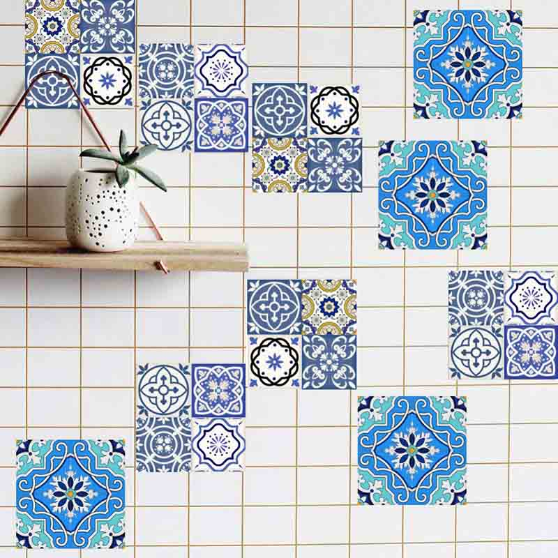 Cement tile imitation stickers (three sizes, 20pcs/set)
