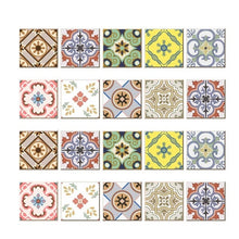 Load image into Gallery viewer, Cement tile imitation stickers (three sizes, 20pcs/set)