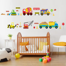 Load image into Gallery viewer, Construction vehicle, trucks, road signs stickers