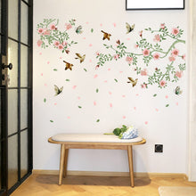 Load image into Gallery viewer, Birds and bloomed branches stickers