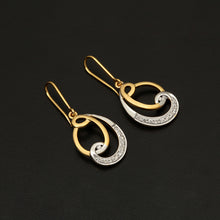 Load image into Gallery viewer, 14K YG Diamond Hook Earring-1Pair