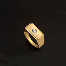 Load image into Gallery viewer, 18K YG Diamond Men's Ring-1pc