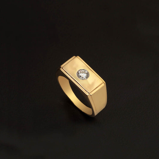 18K YG Diamond Men's Ring-1pc