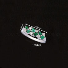 Load image into Gallery viewer, 18K WG Diamond Emerald Ring-1pc
