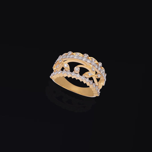 14K YG Diamond Ring