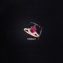 Load image into Gallery viewer, 18K YG Diamond with Ruby Ring-1pc