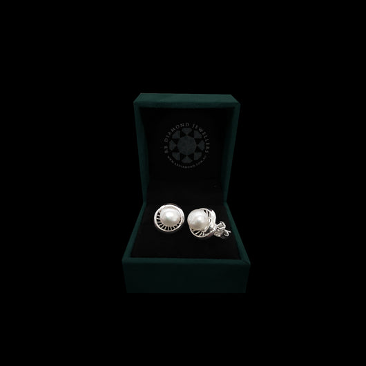 Sterling Silver Stud Earring with Pearl-1pair
