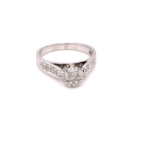 18K YG Pressure Set Women Diamond Ring-1Pc