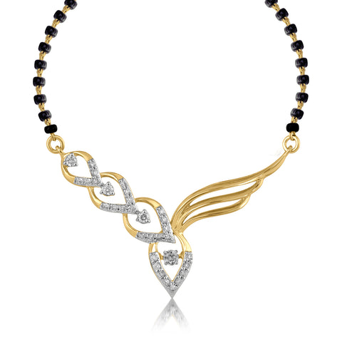 18K YG Diamond Mangalsutra-1pc