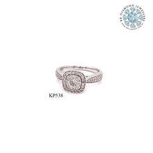 Load image into Gallery viewer, 18K WG Grain Set Engagement Diamond Ring-1PC
