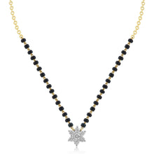 Load image into Gallery viewer, 18K YG Prong Set Star Classic  Women Diamond Mangalsutra-1Pc