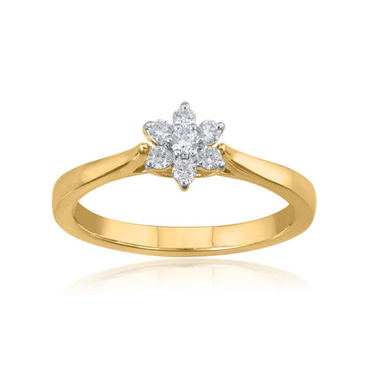 18K YG Prong Set Star Classic Women Diamond Ring-1PC