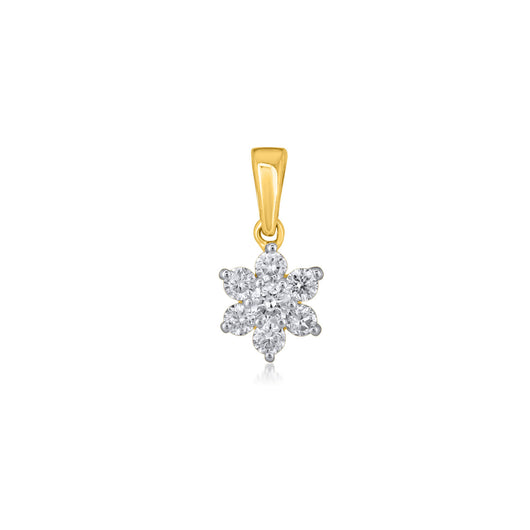 18K YG Prong Set Star Classic Women Diamond Pendant-1PC