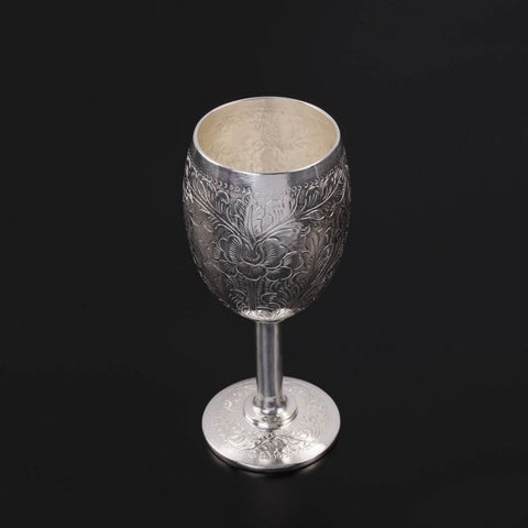 Silver Butta Wine Glass Availability: Immediate
