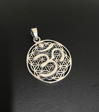 Load image into Gallery viewer, Om Pendant in Sterling Silver 3.5cm