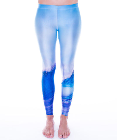 Womens Leggings: Wave