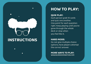 Blerd Domination Trivia Card Game