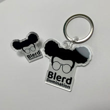 Load image into Gallery viewer, Blerd Domination Pin & Keychain