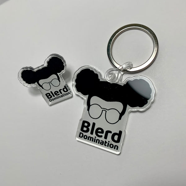 Blerd Domination Pin & Keychain