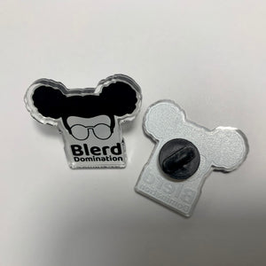 Blerd Domination Pin Front & Back