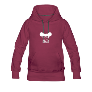 Women's Hoodie Dress - burgundy