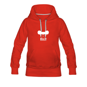 Women's Hoodie Dress - red