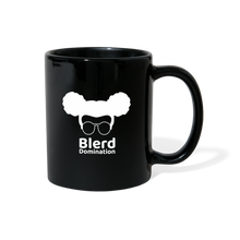 Load image into Gallery viewer, Blerd Domination (White) Logo Mug - black