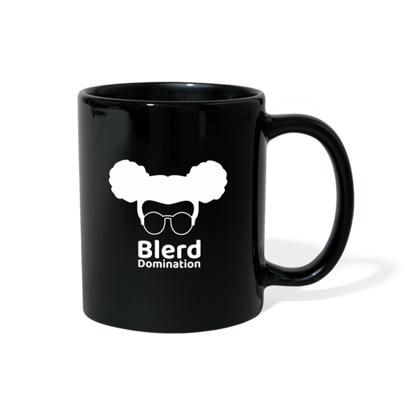 Blerd Domination (White) Logo Mug - black