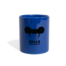 Load image into Gallery viewer, Blerd Domination (White) Logo Mug - royal blue