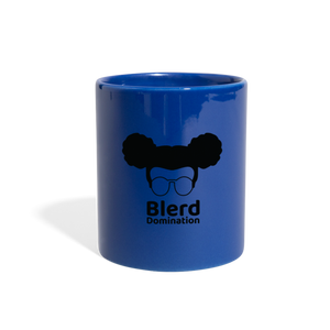 Blerd Domination (White) Logo Mug - royal blue