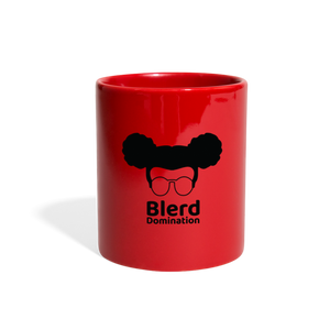Blerd Domination (White) Logo Mug - red