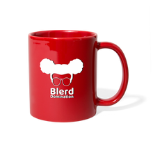 Load image into Gallery viewer, Blerd Domination (White) Logo Mug - red