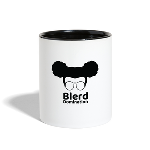 Blerd Domination Logo Contrast Handle Mug - white/black