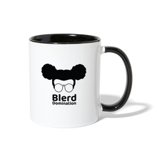 Load image into Gallery viewer, Blerd Domination Logo Contrast Handle Mug - white/black