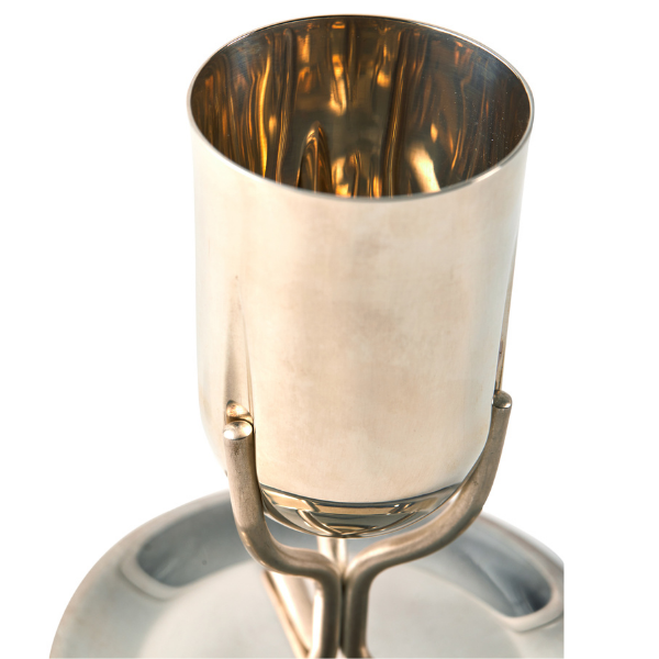 Silver Goblet with Prongs By Israel Dahan
