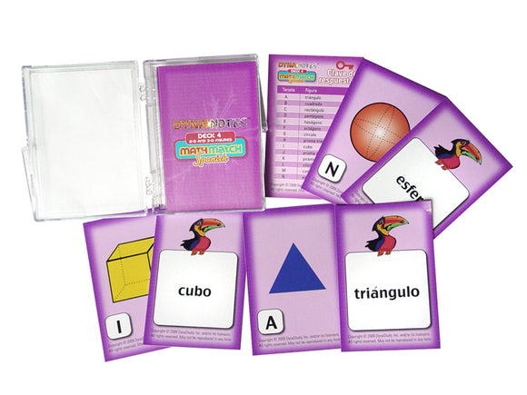 Spanish MathMatch - 2-D and 3-D Figures