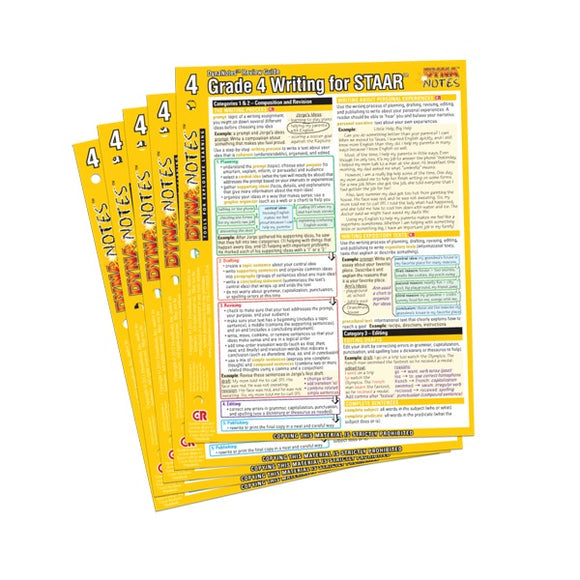 Legacy Grade 4 Writing Student Course Notes 10-Pack