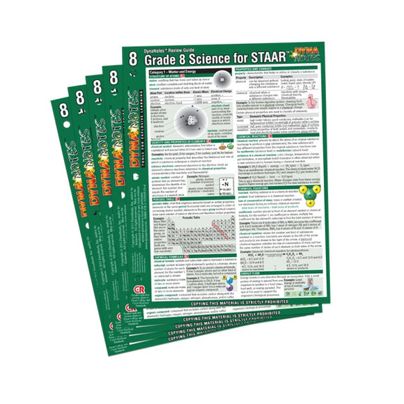 Legacy Grade 8 Science Student Course Notes 10-Pack