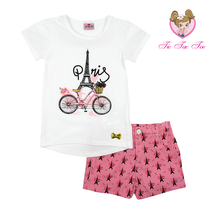 Conjunto Short Twill Stretch Paris