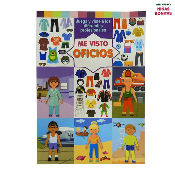 Me visto - Oficio | Libro Interactivo con Sticker ( 32 Páginas)