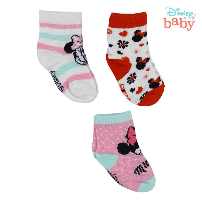 Set De 3 Medias De Minnie Mouse