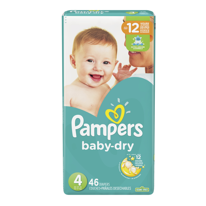 Pampers Baby Dry Talla 4 - 46 Unidades