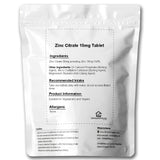 Zinc Citrate 15mg Tablets - High Strength - Immunity - Hair - Skin - Nails - Vegan