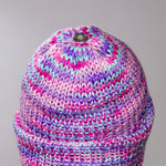 Load image into Gallery viewer, Purple Pink Swirl Cuff Pom Beanie