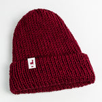 Load image into Gallery viewer, Burgundy Knit Beanie