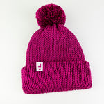 Load image into Gallery viewer, Fuchsia Knit Beanie