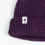 Load image into Gallery viewer, Purple Knit Beanie