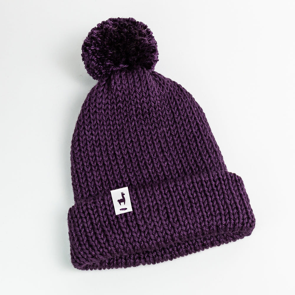 Purple Knit Beanie
